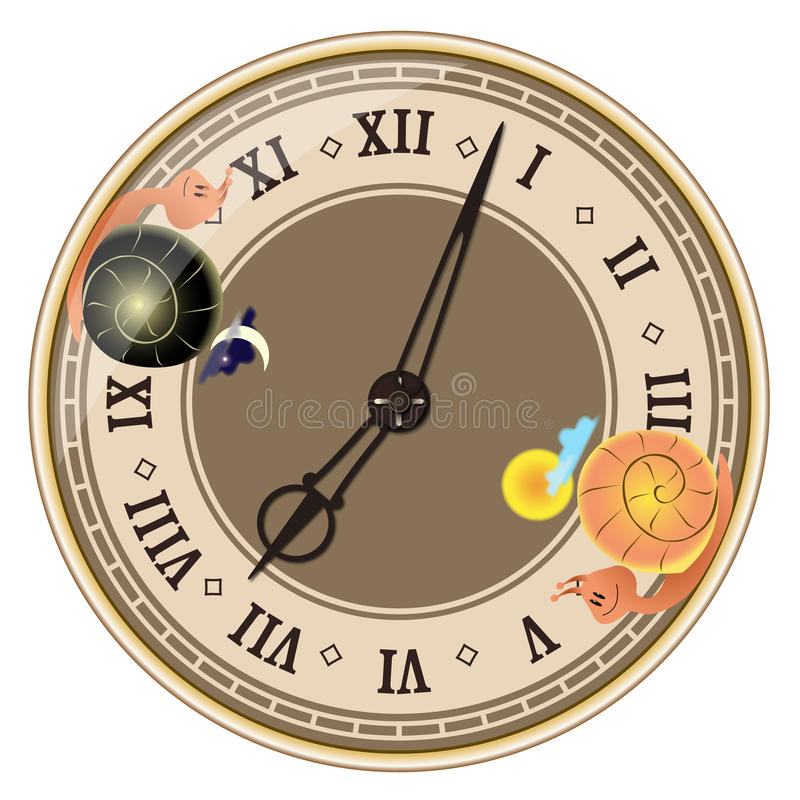 Free Day And Night Inside Clock Stock Images - 16603864
