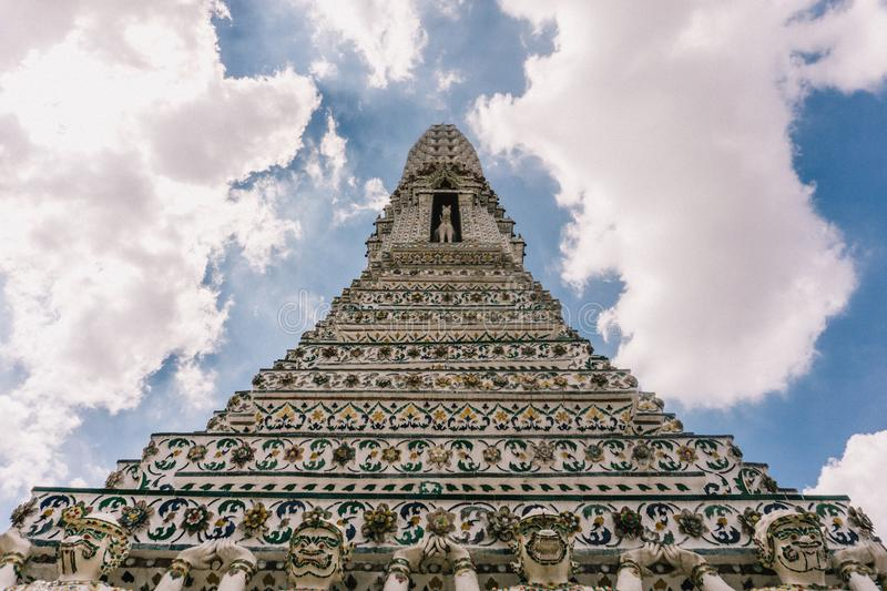 The day in bangkok, Thailand, Wat Arun Temple royalty free stock images