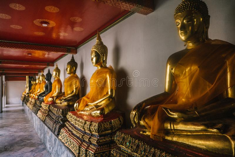 The day in bangkok, Thailand, Wat Po Temple stock photo