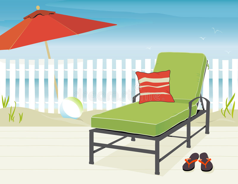 Day at the Beach royalty free illustration