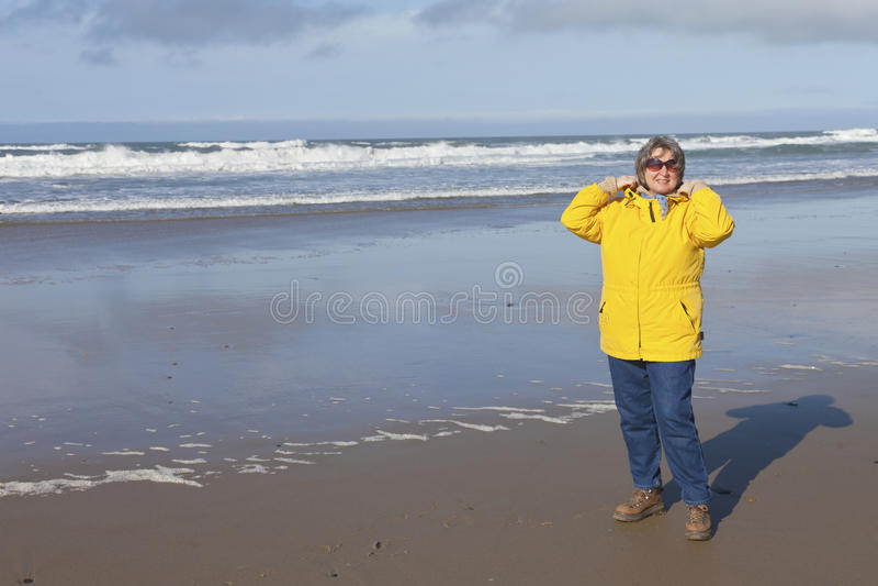 Day at the beach Oregon coast. stock photography