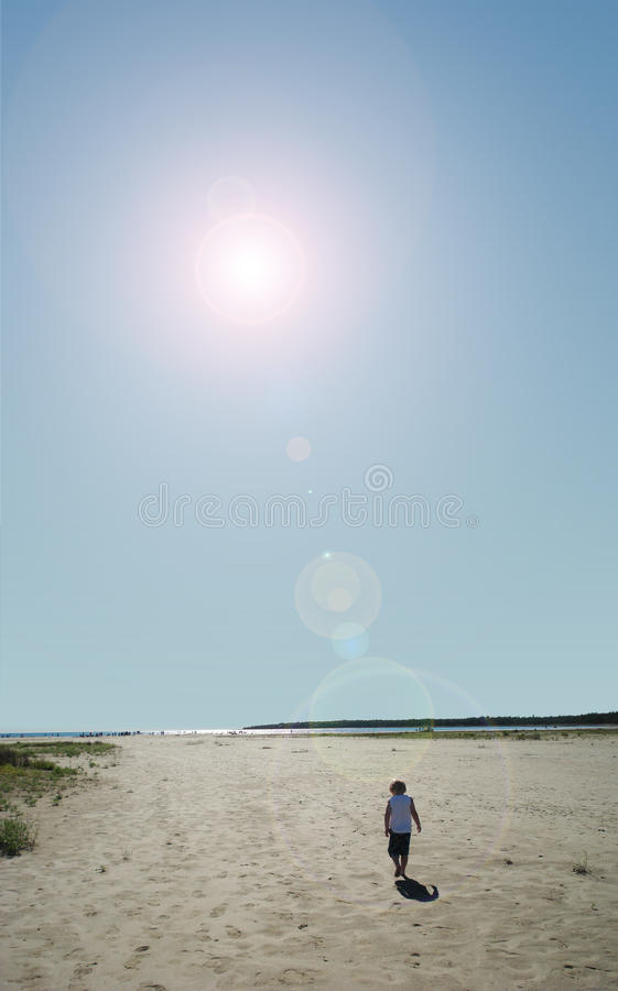 Day at the Beach stock photography