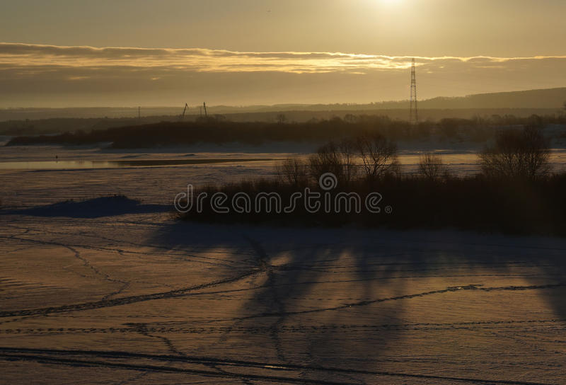 The day begins. royalty free stock images