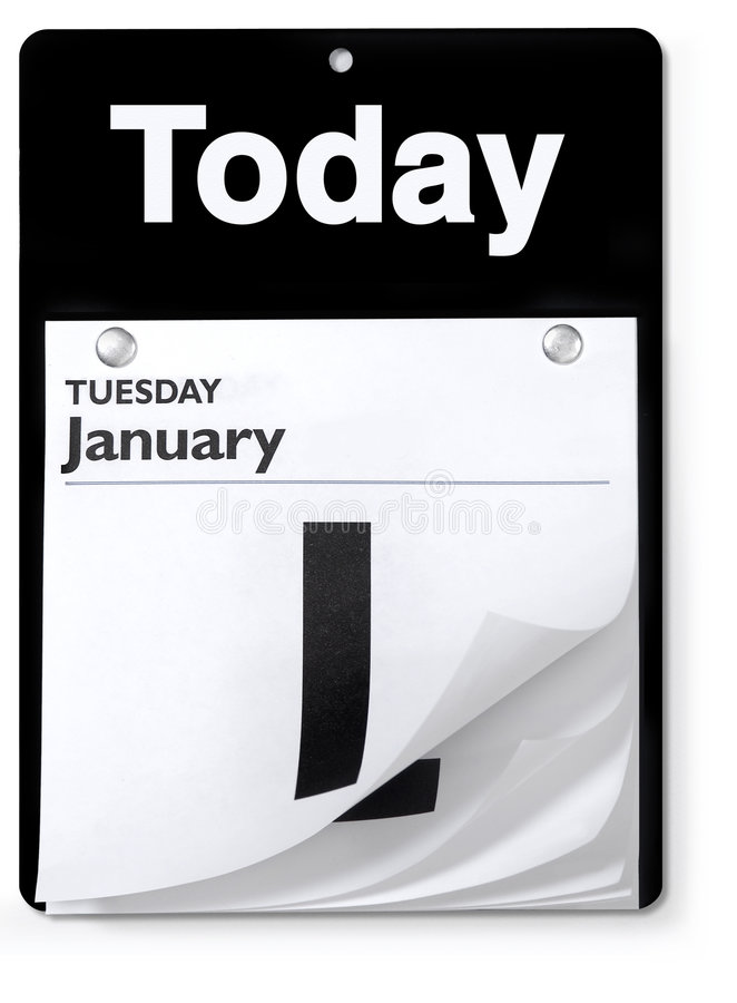 Free Day Calendar Orthographic View Stock Photos - 4245473