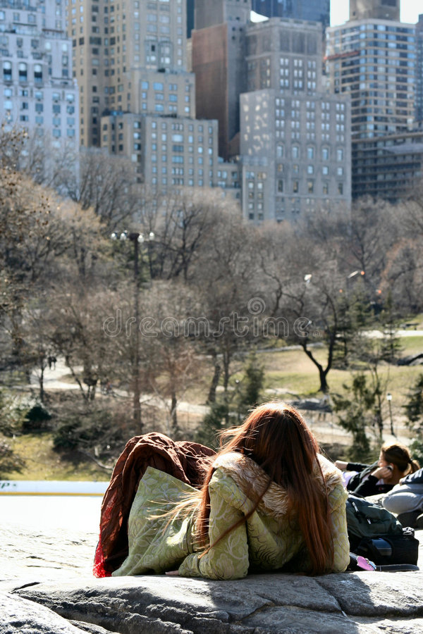 A Day in Central Park royalty free stock photography
