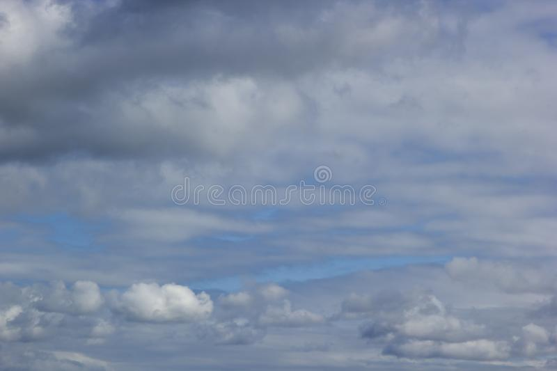 Day Cloudy Blue Sky Covered with Clouds stock photos