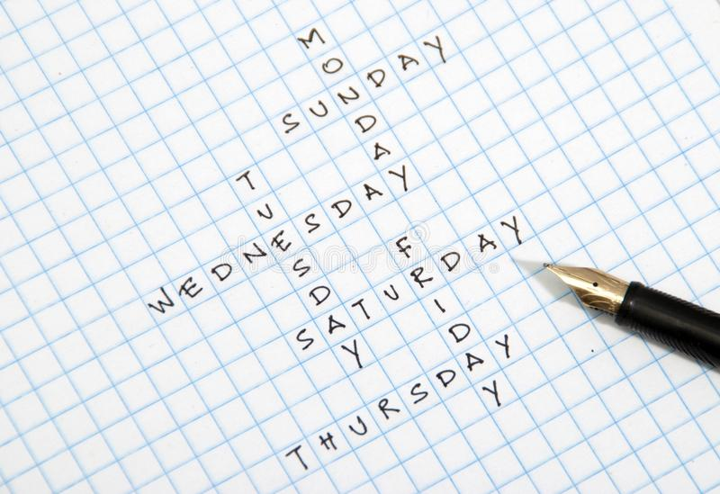 Download Day Crossword Royalty Free Stock Photography - Image: 19130117