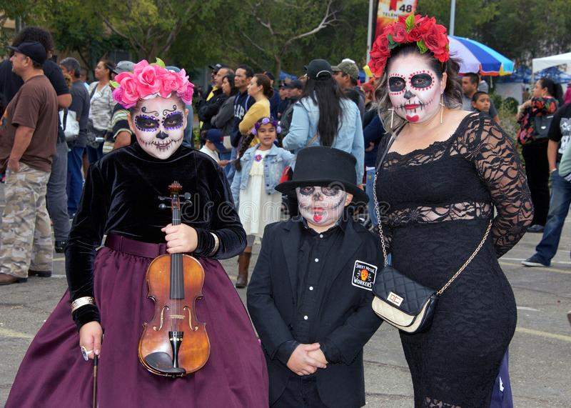 Day of the Dead Festival, Fruitvale, California. Fruitvale, CA - October 29, 2017: Unidentified participants at the 29th annual Dia de los Muertos, or Day of the royalty free stock photography