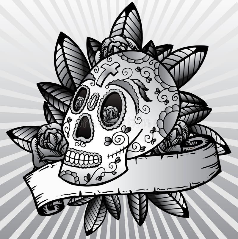 Day of the dead festival skull vector illustration royalty free stock photos