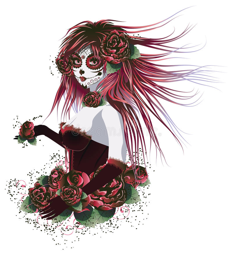 Day of Dead Girl royalty free illustration