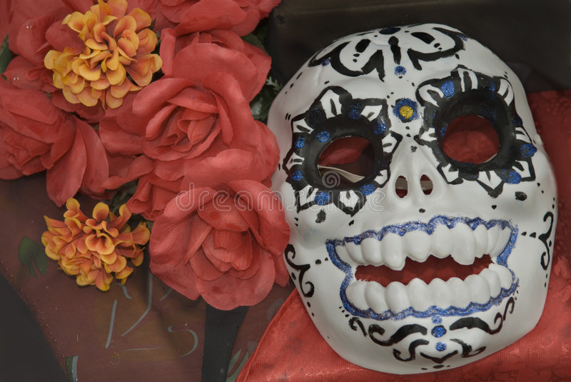 Day of the dead mask. The Day of the Dead is also known in Mexican culture as El Dia de los Muertos royalty free stock images