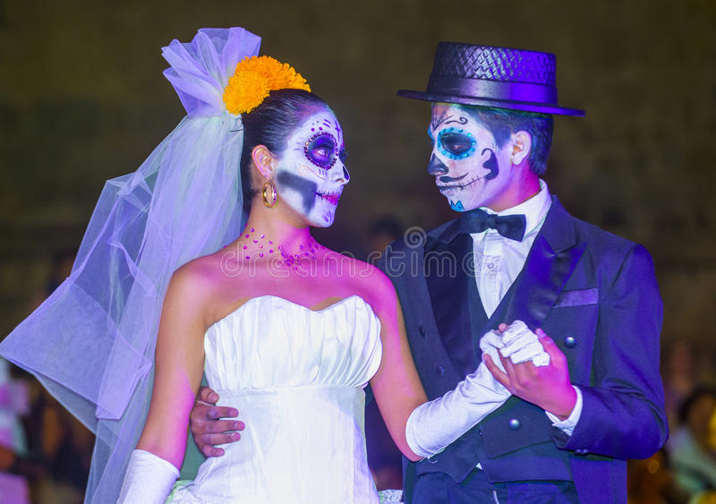 Day of the Dead. OAXACA , MEXICO - NOV 02 : Unidentified participants on a carnival of the Day of the Dead in Oaxaca, Mexico on November 02 2015. The Day of the royalty free stock images