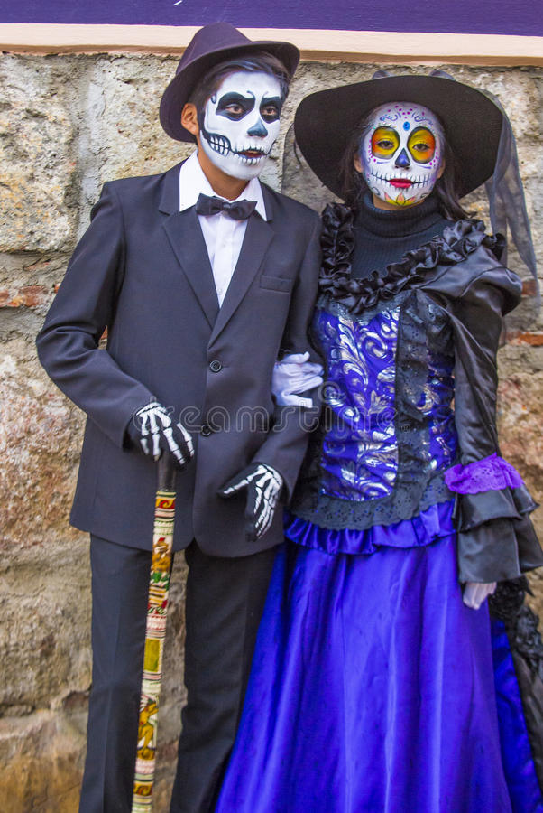 Day of the Dead. OAXACA , MEXICO - NOV 02 : Unidentified participants on a carnival of the Day of the Dead in Oaxaca, Mexico on November 02 2015. The Day of the stock photo