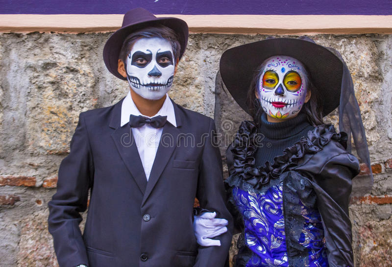 Day of the Dead. OAXACA , MEXICO - NOV 02 : Unidentified participants on a carnival of the Day of the Dead in Oaxaca, Mexico on November 02 2015. The Day of the stock photos