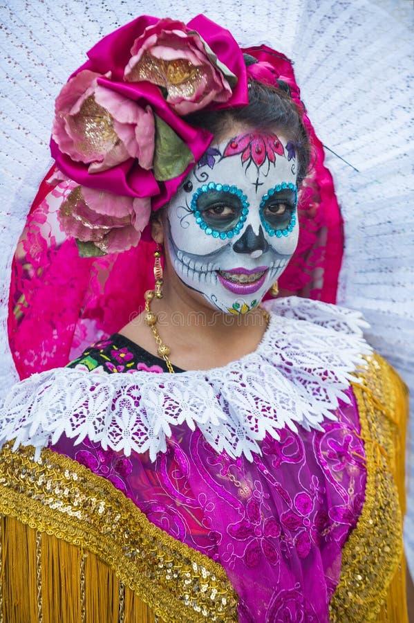 Day of the Dead. OAXACA , MEXICO - NOV 02 : Unknown participant on a carnival of the Day of the Dead in Oaxaca, Mexico, on November 02 2015. The Day of the Dead stock photos