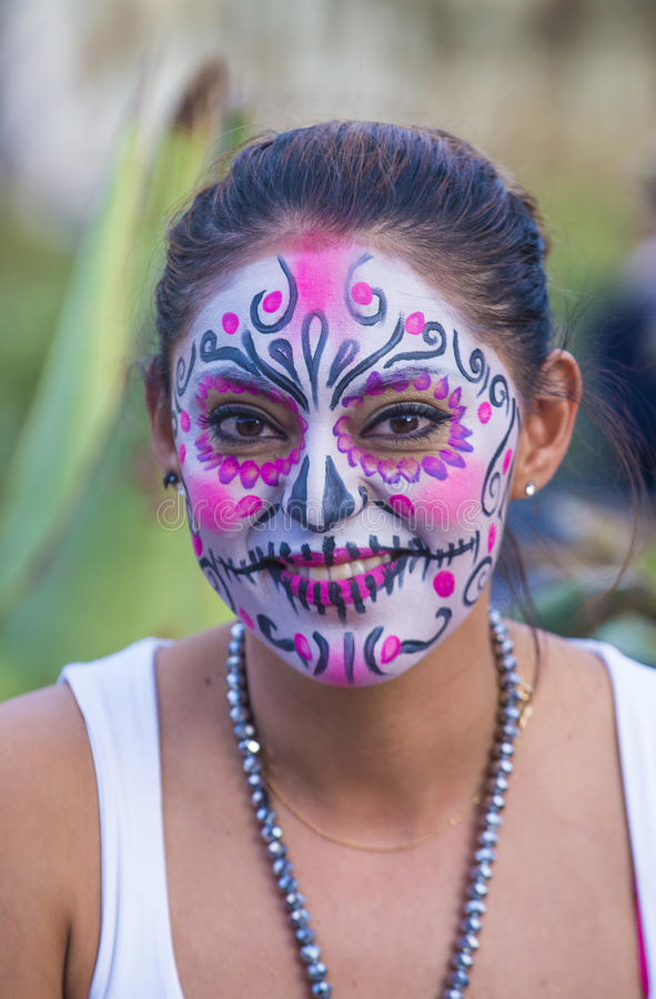 Day of the Dead. OAXACA , MEXICO - NOV 02 : Unknown participant on a carnival of the Day of the Dead in Oaxaca, Mexico, on November 02 2015. The Day of the Dead royalty free stock photography