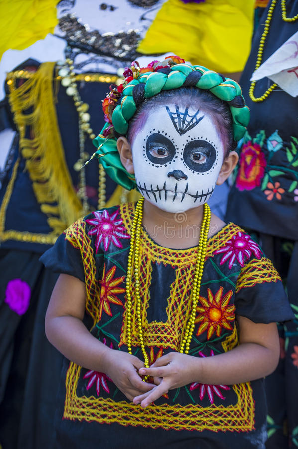 Day of the Dead. OAXACA , MEXICO - NOV 02 : Unknown participant on a carnival of the Day of the Dead in Oaxaca, Mexico, on November 02 2015. The Day of the Dead stock photo