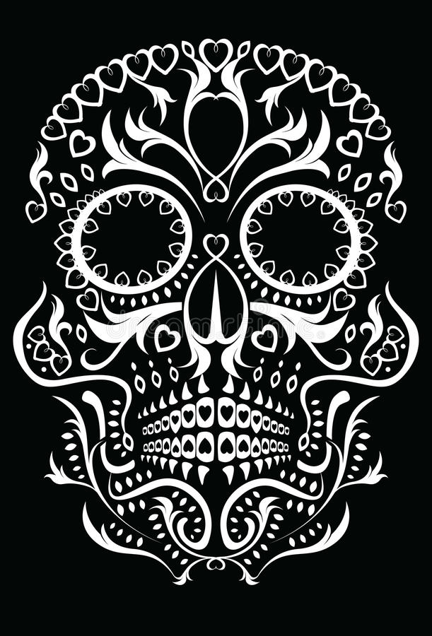 Day of the dead skull royalty free illustration
