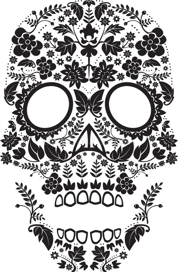 Day of the dead skull stock images