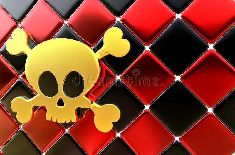Day of The Dead skull and crossbones as background royalty free illustration