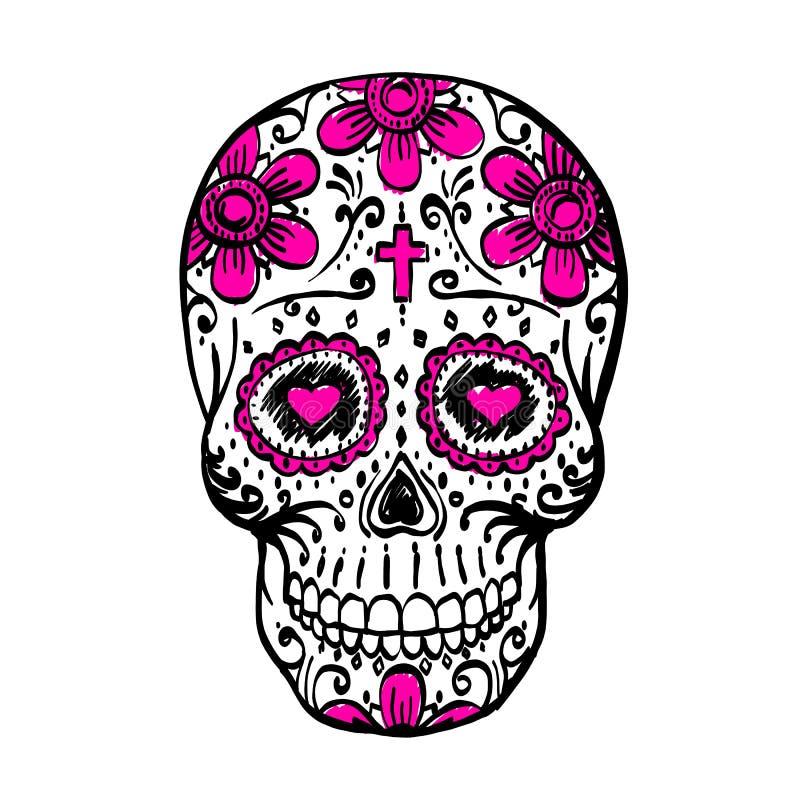 Day of the dead skull sketch stock vector illustration of holiday day of the dead skull sketch draw skull sugar flower skull tattoo vector illustration mightylinksfo