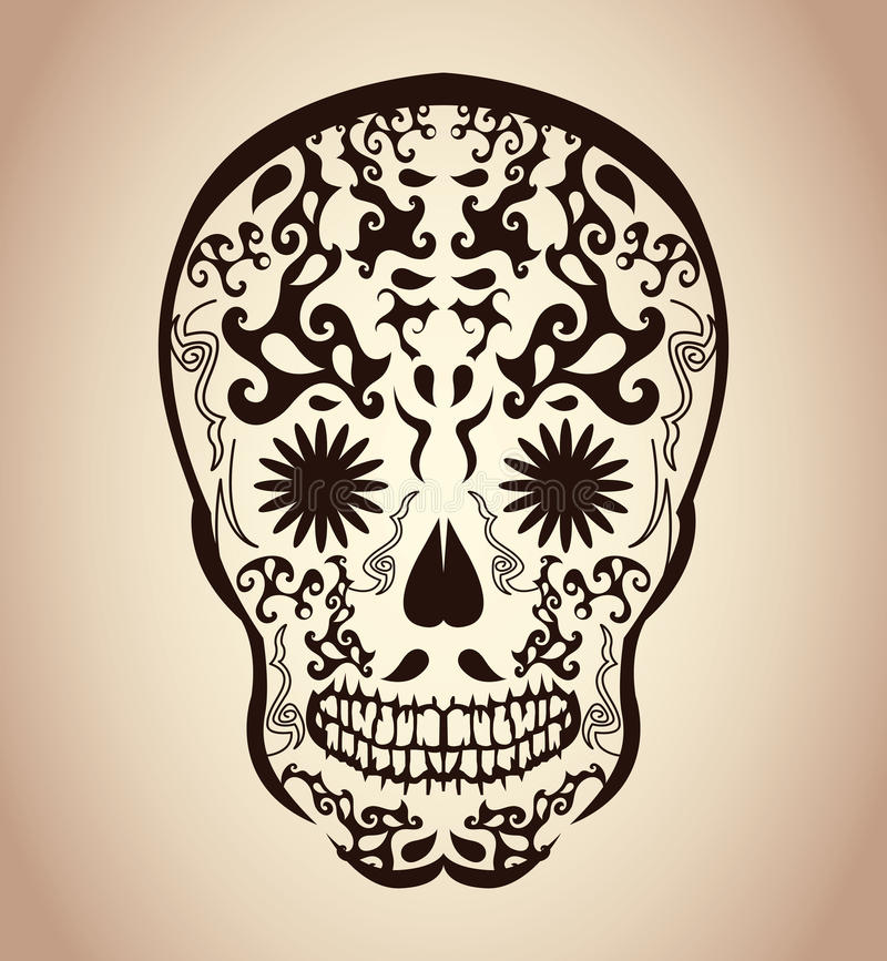 Day of the Dead Skull - tattoo skull. Calavera - eps available stock illustration