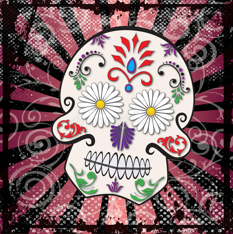Download Day Of The Dead Sugar Skull Vector Royalty Free Stock Photo - Image: 16304485