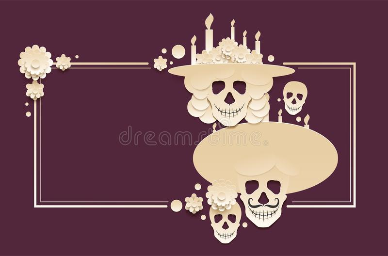 Day of the dead template greeting card mexican holiday dia de day of the dead template greeting card mexican holiday dia de muertos set of skull and burning candle vector illustration m4hsunfo