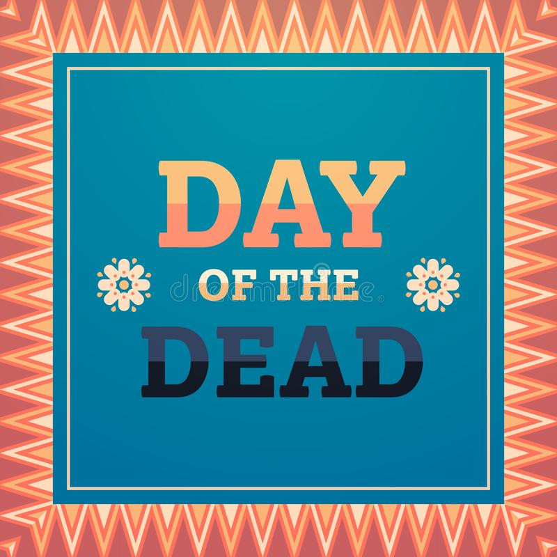 Day of dead traditional mexican halloween dia de los muertos holiday party decoration invitation greeting card flat vector illustration