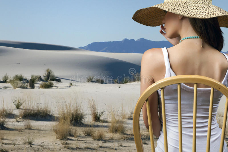 A Day At The Desert stock image