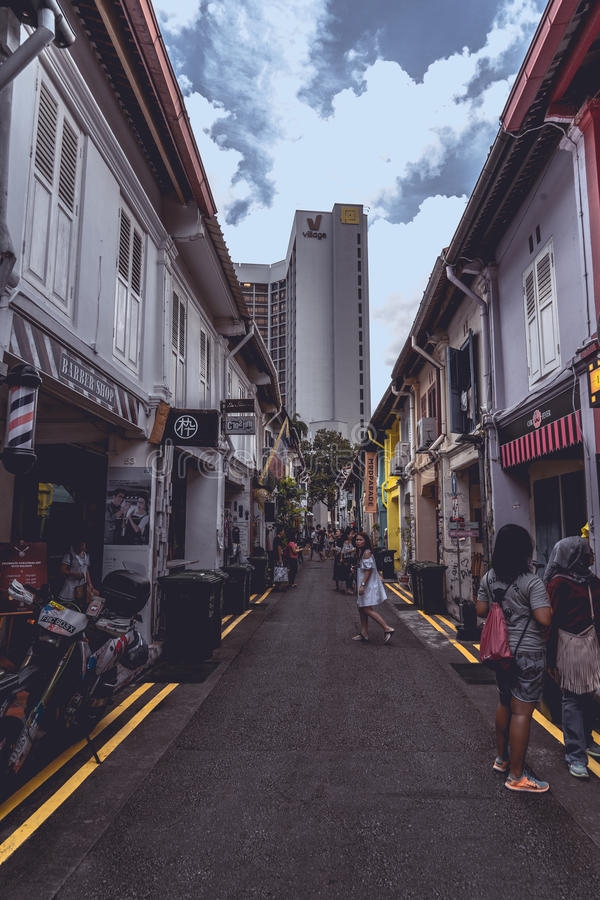 A day in Haji Lane stock images