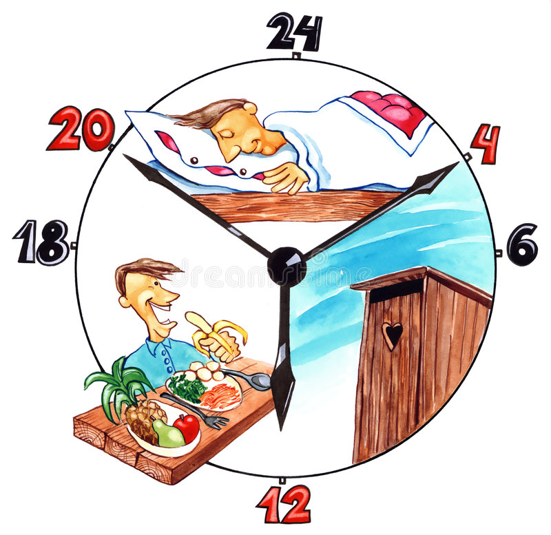 Day of healthy man stock illustration