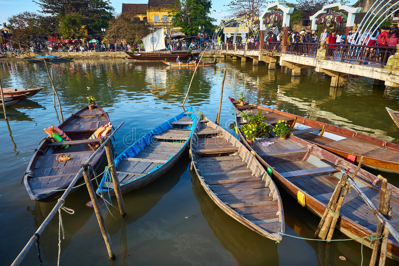The day in Hoi An town stock images
