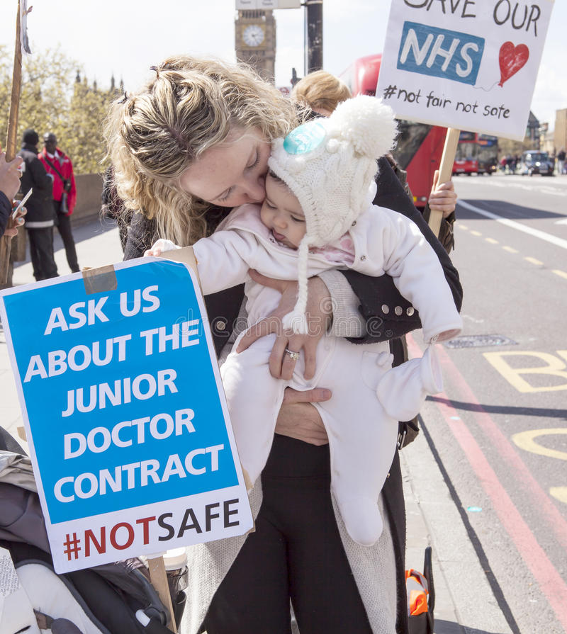 Day 2 of the 48 Hr Strike by the Junior Doctors royalty free stock photo