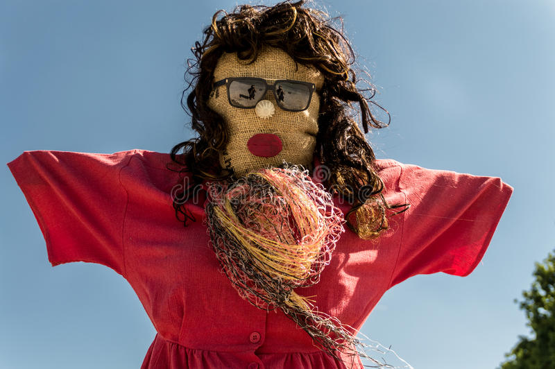 The day of the lady scarecrow stock photos