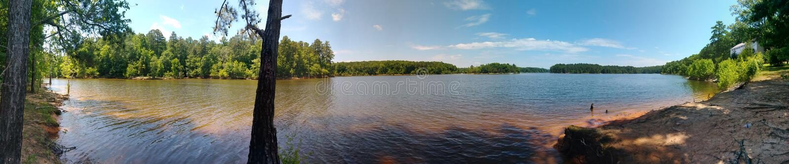 A day at the lake royalty free stock images