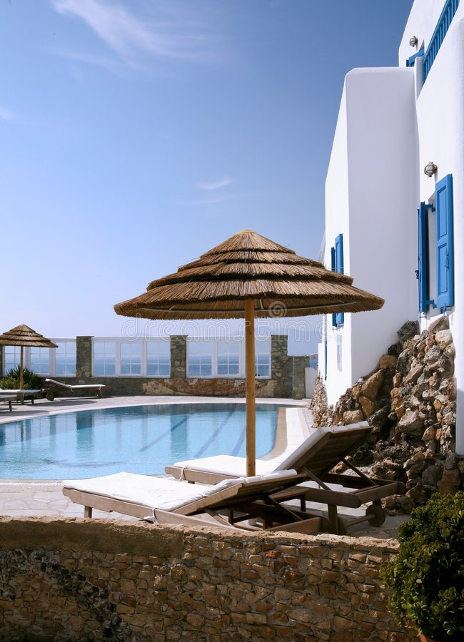 Day in Mikonos stock image