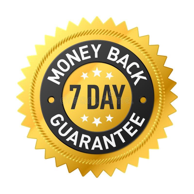 7 day money back guarantee label vector illustration