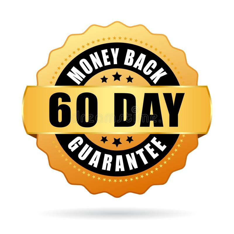 60 day money back guarantee vector icon vector illustration