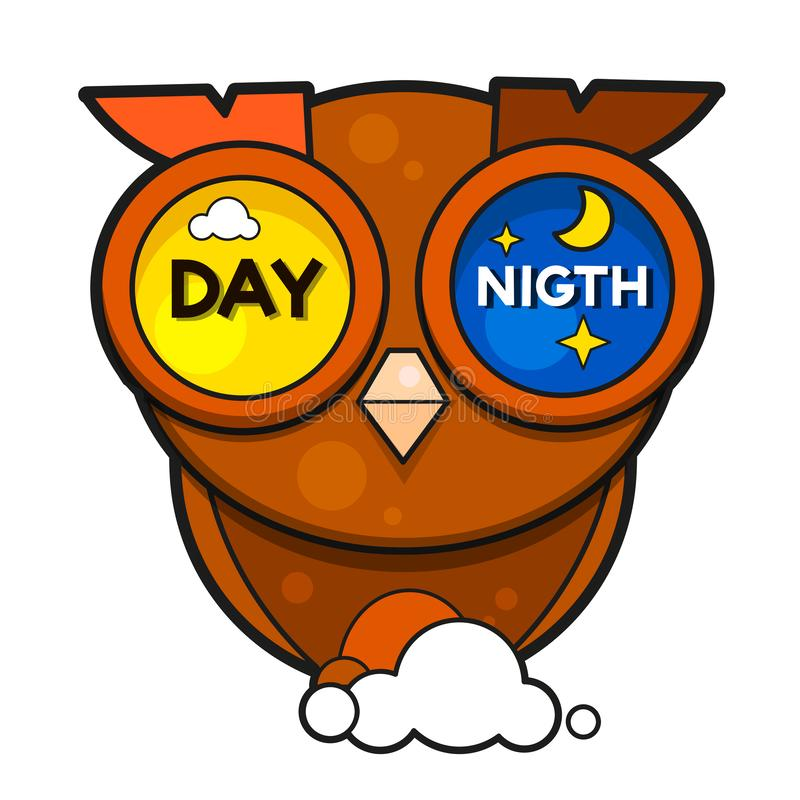 Day night vector illustration on white background royalty free illustration