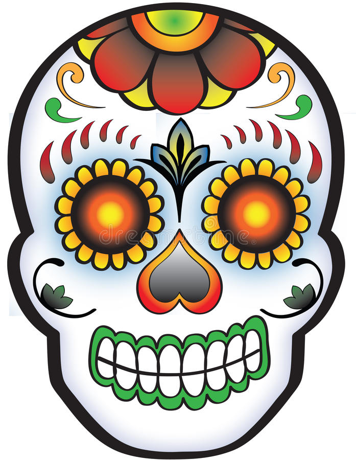 Free Day Of The Dead Sugar Skull Royalty Free Stock Photos - 24880828