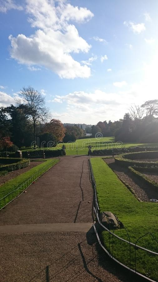 A day out at Warwick Castle ?? sunny day royalty free stock photography