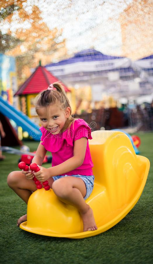 Day at playground. royalty free stock photos