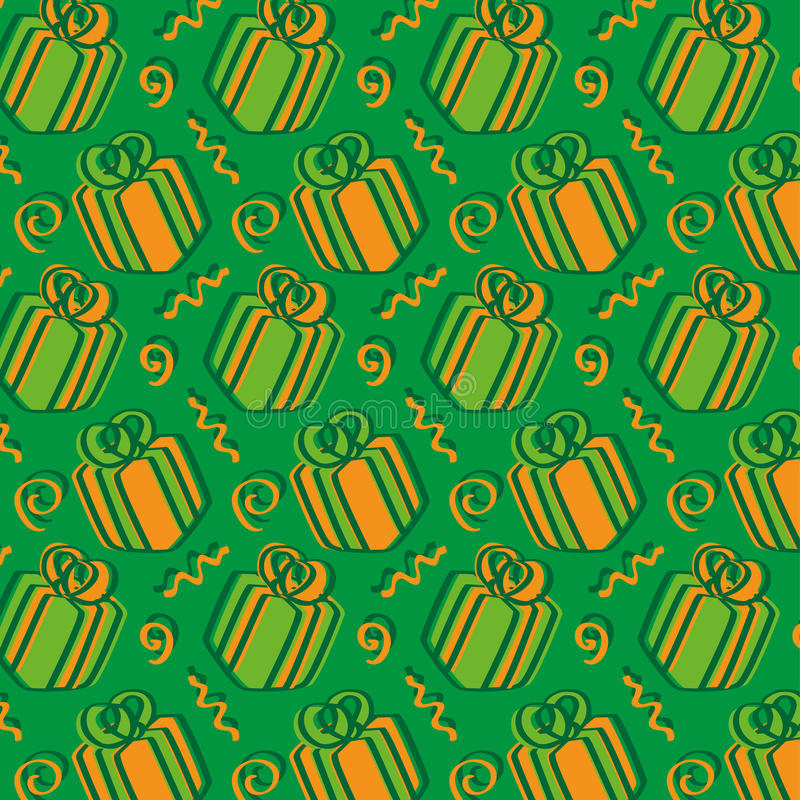Day of presents - green and orange royalty free stock photography