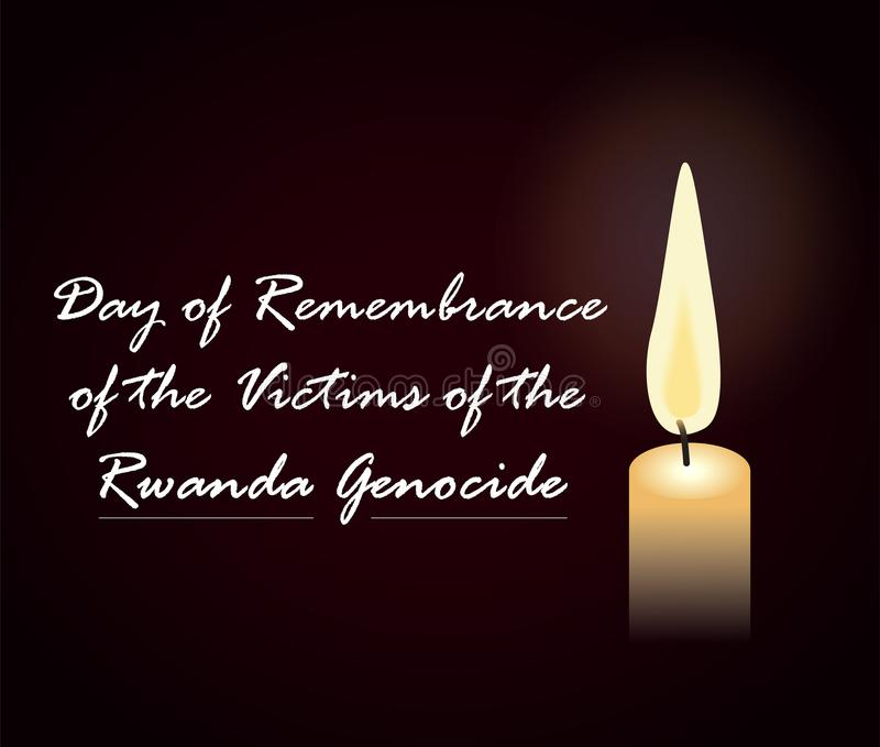 Day of remembrance of the victims of the Rwanda Genocide vector illustration