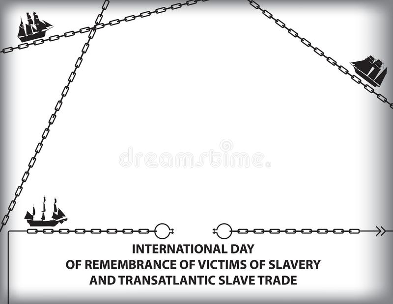Day of Remembrance for Victims of Slavery vector illustration