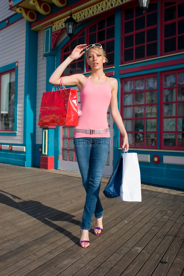 A day shopping stock photo
