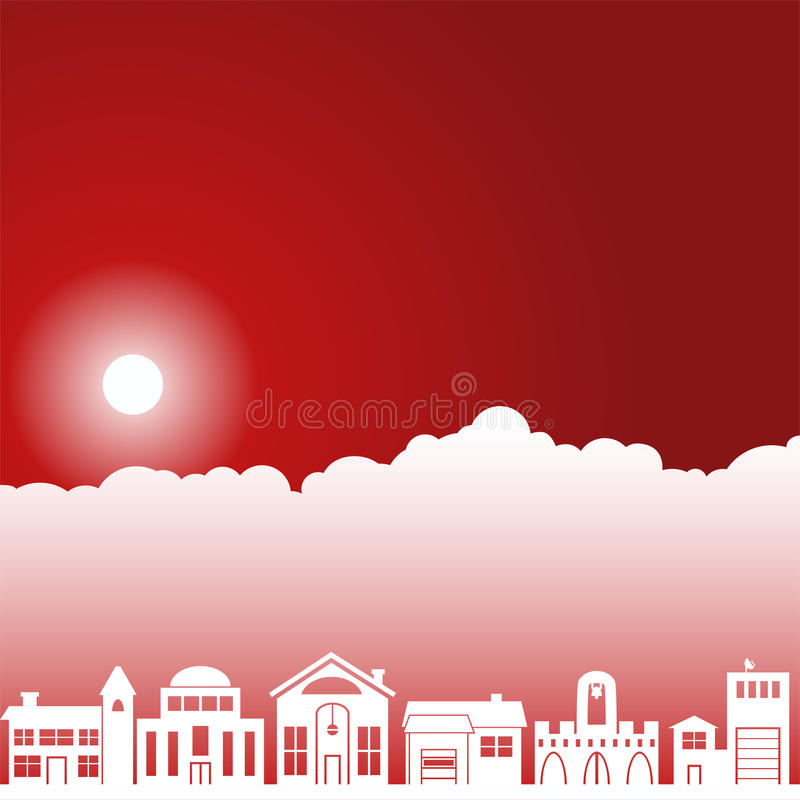Day Sky Scene - Neighborhood Royalty Free Stock Images