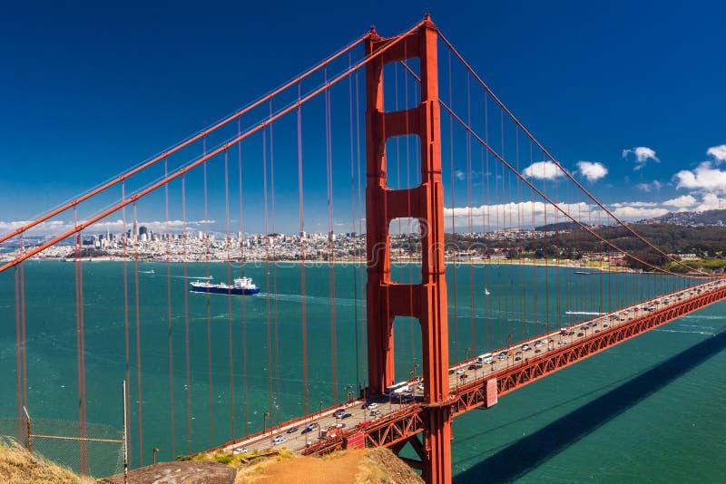 Day time shot of Golden Gate Bridge in San Francisco, California. USA stock photos
