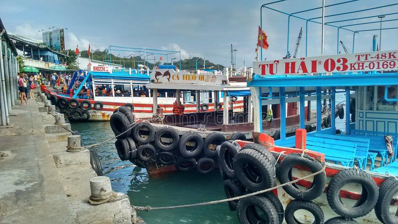 Day trip boats Nha Trang, Vietnam royalty free stock photo
